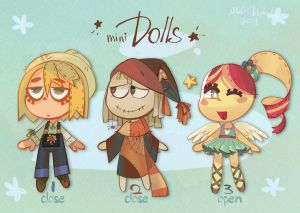 Mini dolls adoptables SET PRICE [1/3 OPEN] by gobithedogsadopts