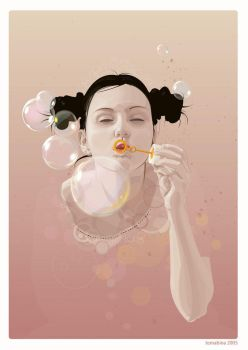 Bubble Girl Vector by temabina