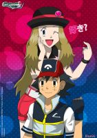 PKMN V - Ash and Serena I (2014 VERSION) by Blue90