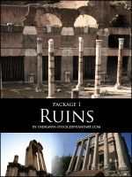 Ruins package 1 by Indrawn-stock