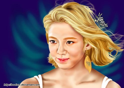 Hyoyeon Digital Painting 48 by BoAism