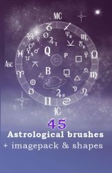 Astrological brushes + shapes by AnastasieLys