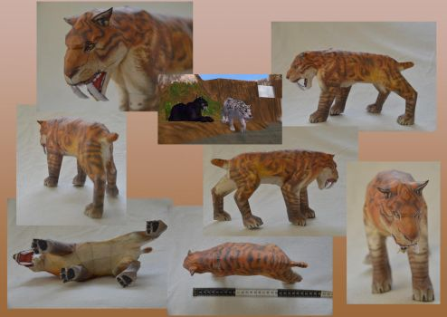 Zoo Tycoon Paper Collection - Smilodon by DrWheelieMobile