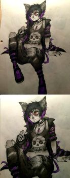 Nyx ( colored ) by TheSickener