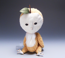 Apple Owl Spirit Doll Sit Cid by kaijumama