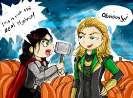 Loki and Thor (Halloween special) by Eilyn-Chan