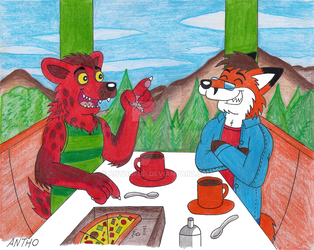 Lunch at the park restaurant. by AnthoFur