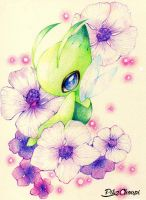 Celebi colored pencil by PikaChoupi