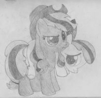 Pony sketch - The seed and the sapling by TheStorm117