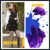 KAREN GILLAN - BEFORE AND AFTER HER INFLATION by interrorgum