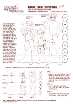 Learn Manga: body proportions by Naschi