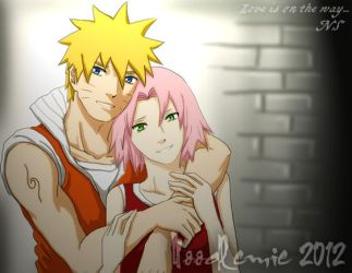 NaruSaku :love is on the way by noodlemie