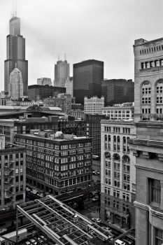 Cloudy day in Chicago by arnaudperret