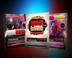 Music Concert Flyer Template Pack by afizs