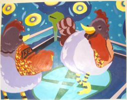 Cock Fight by cgianelloni