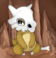 Pokemon - Cubone - Alone - by AzudurI