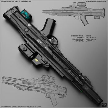 Digo - concept of futuristic shotgun by peterku
