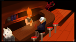 Sans at grillbys | UNDERTALE PAINTING by KaiziDizzi
