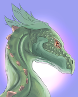 Practicing coloration on a dragon head. by Silpher8