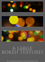 6 large bokeh textures by PaperMarionett