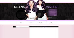 Ordered layout with Selena Gomez by redesignbea