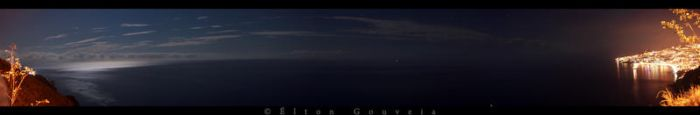 Panoramic view over Atlantic by NoTlE