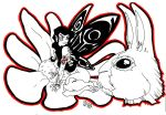 A Fairy, a flower and a rabbit by Alrik666