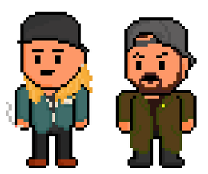 Chasing Amy Pixel Jay and Silent Bob by gkillerb