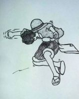 Luffy Punch! by NoreenGrace