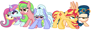 AU Mane Six by Ecoster1268