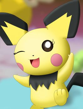 Character Portrait: Pichu by EvanDaMaster