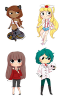 CA: Quick Chibi Commission batch part 1 by Little-Miss-Boxie