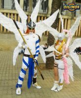 Angemon y Angewomon by LeydaCosplay