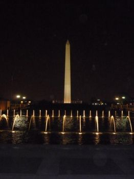 Washington Monument At Night by MarineRaider