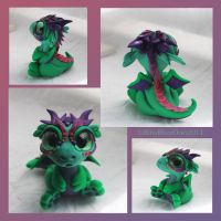Green and Purple Bitty Baby by BittyBiteyOnes