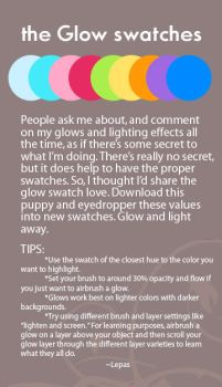 The Glow Swatches by Lepas