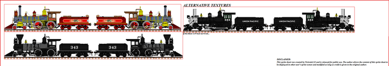 Union Pacific Railroad No. 119 Deluxe Sprite Sheet by Nictrain123