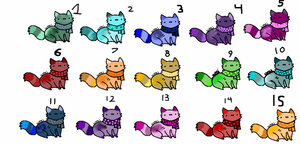 Scarf kitty adopts! 10/15 available. by TheGirlOfCreepyPasta