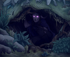 Hiding by The-Zombie-Cat