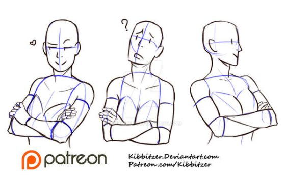 Crossed Arms reference sheet 2 by Kibbitzer
