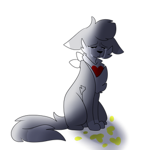 Wolfie But She Has No Friends by Wolfie-The-Artist