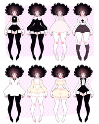 ash outfits 01 by dollieguts
