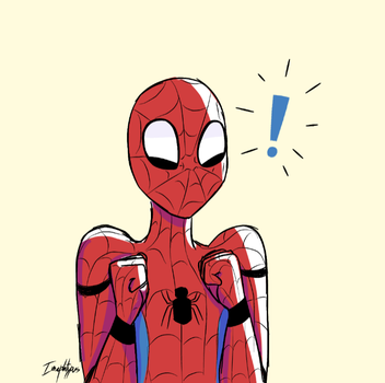 Excited Spidey by Imaplatypus