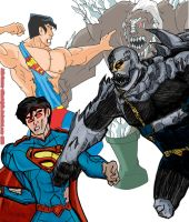 He's back! (superman vs doomsday -classic /new 52) by ultimatejulio