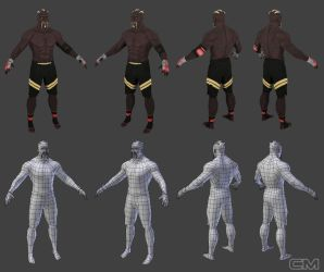 Low Poly MMA fighter by contmike