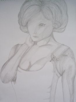 WIP Pencil version PorcelainCora's'L'Anti Marilyn' by Wriga