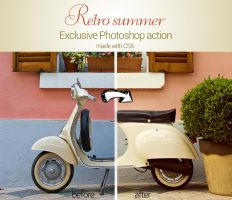 Retro Summer Photoshop Action by piximi