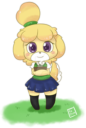Isabelle - Animal Crossing by DatBritishMexican