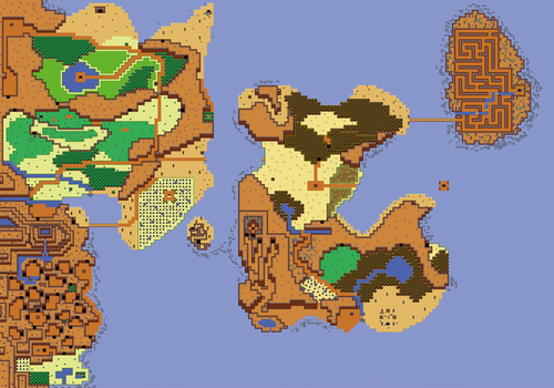 Zelda 2 World Map Remake By Thornblackstar On Deviantart