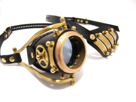 Steampunk Monogoggle 10-4 by AmbassadorMann